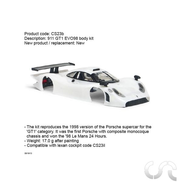 carrosserie porsche 911 gt1 evo 98 slot it casaslotracing. Black Bedroom Furniture Sets. Home Design Ideas